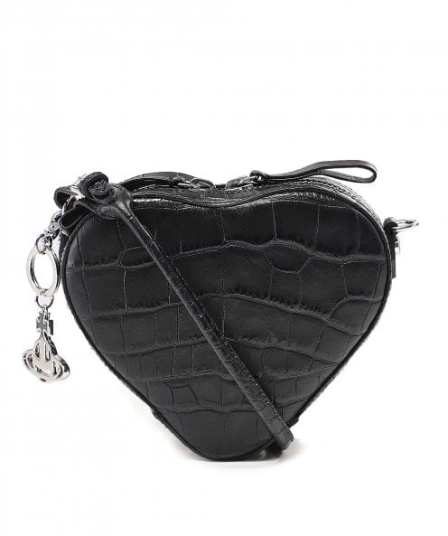 Vivienne Westwood Accessories Leather Johanna Cross Body Heart Bag