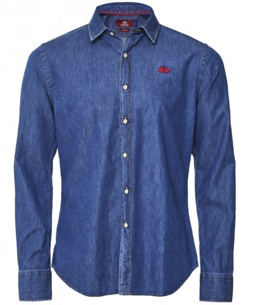 La Martina Slim Fit Marly Denim Shirt