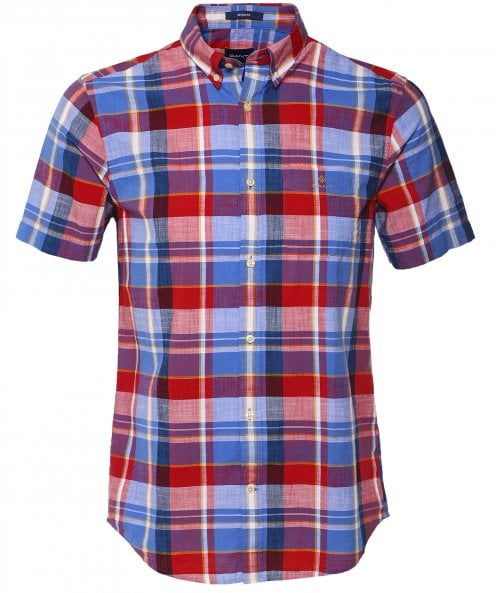 GANT Regular Fit Short Sleeve Madras Check Shirt