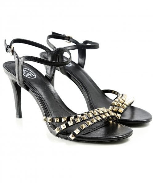 Ash Leather Hello Studded Heeled Sandals