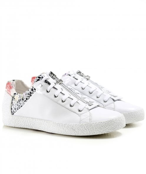 Ash Leather Nirvana Printed Zip Front Trainers