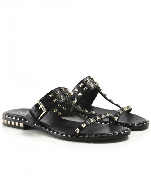 Ash Leather Prince Studded Sandals