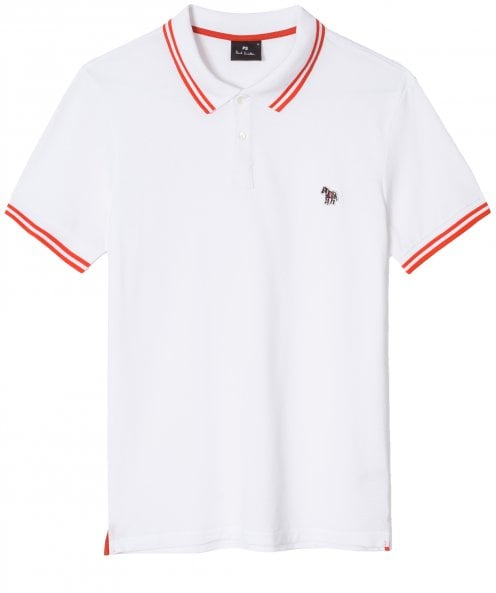 PS by Paul Smith Regular Fit Twin Tipped Zebra Polo Shirt