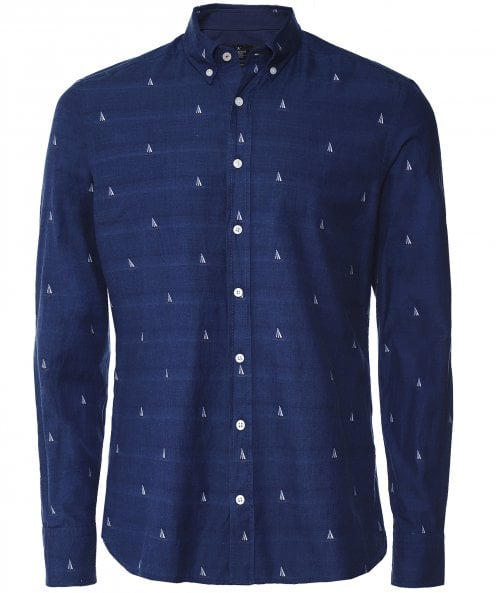 Hackett Slim Fit Sail Boat Shirt