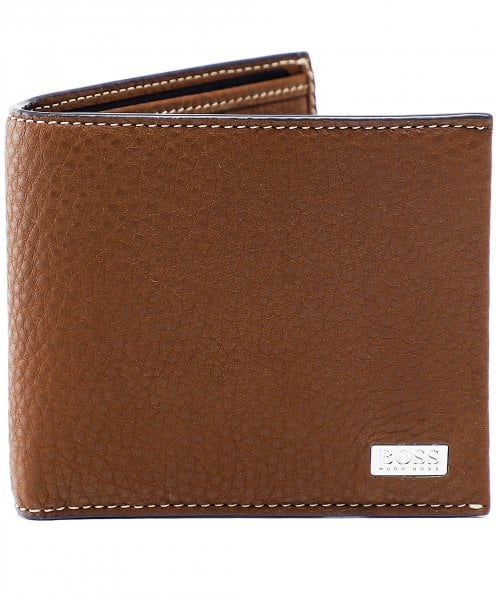 BOSS Leather Crosstown Wallet