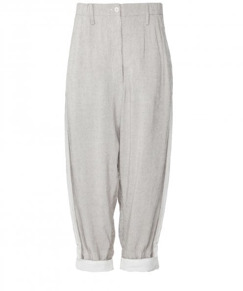 Annette Gortz Linen Blend Cropped Trousers