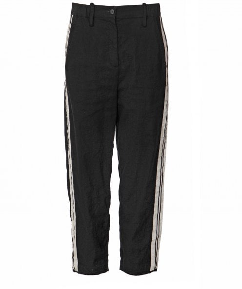 Annette Gortz Linen Blend Side Stripe Trousers