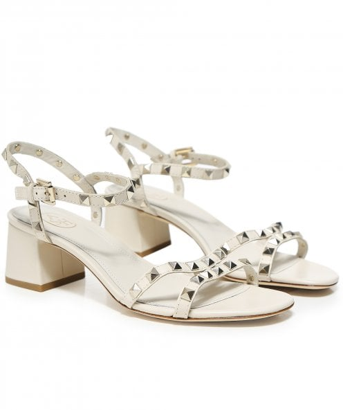 Ash Leather Iggy Studded Block Heel Sandals