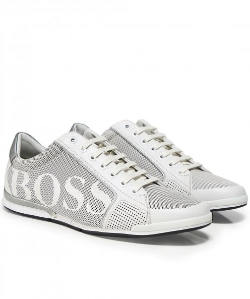 BOSS Leather Saturn_Lowp_logo Trainers