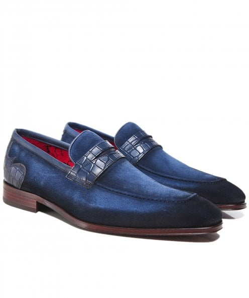 Jeffery-West Burnished Suede Soprano Penny Loafers
