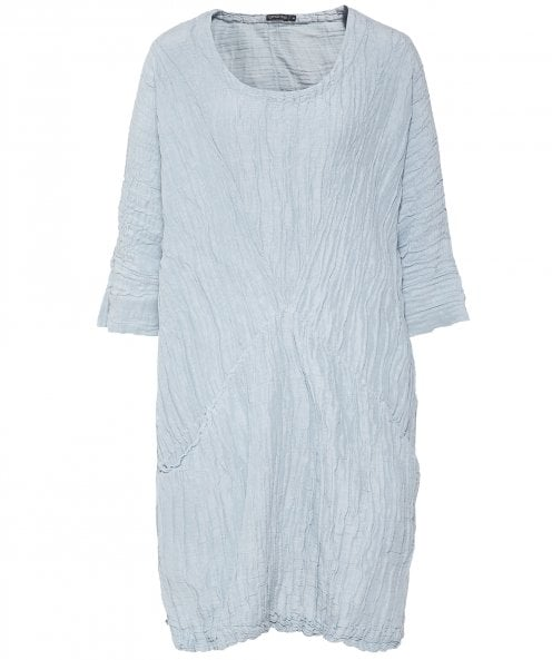Grizas Linen and Silk Blend Crinkled Tunic