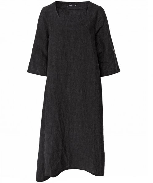 Ralston Linen Hilma Asymmetric Hem Dress
