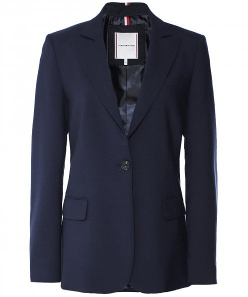 Tommy Hilfiger Wool Blend Essential Blazer