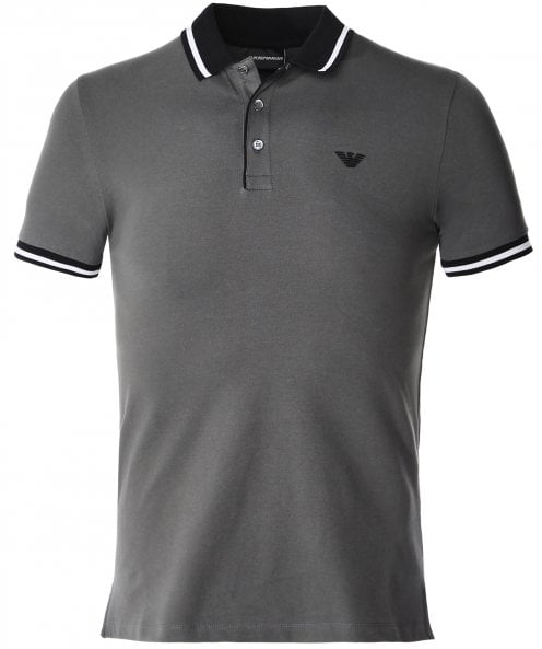 Armani Stretch Pique Cotton Polo Shirt