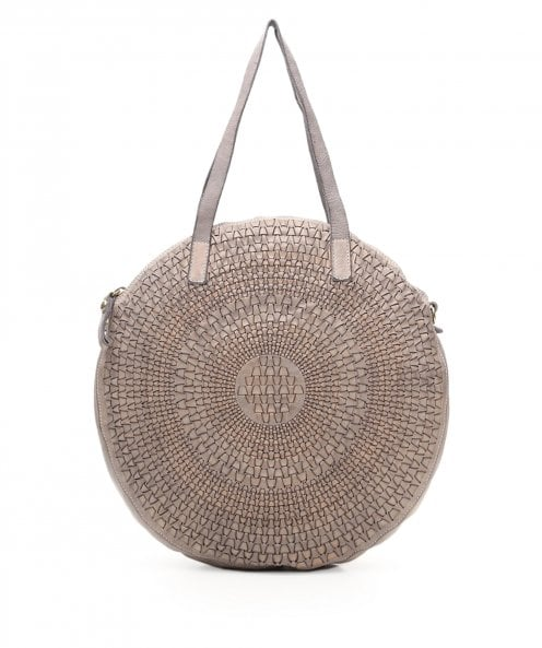 Campomaggi Woven Leather Round Shopping Bag