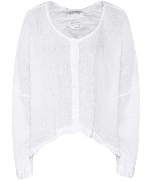 Grizas Linen Button Down Top