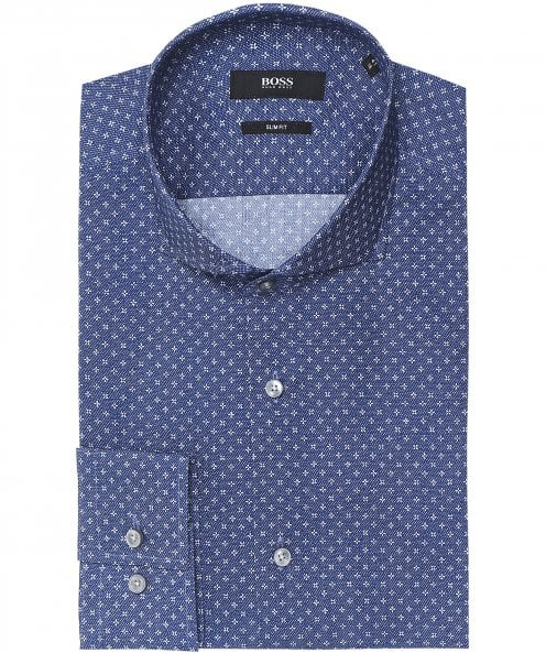 BOSS Slim Fit Micro Cross Jason Shirt