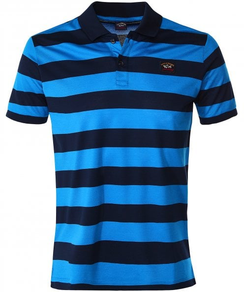Paul and Shark Double Mercerised Striped Polo Shirt