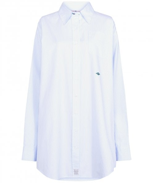Tommy Hilfiger Zendaya Striped Cotton Oxford Shirt