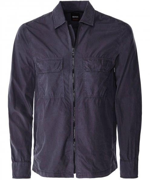 BOSS Washed Lovel-zip_1 Overshirt