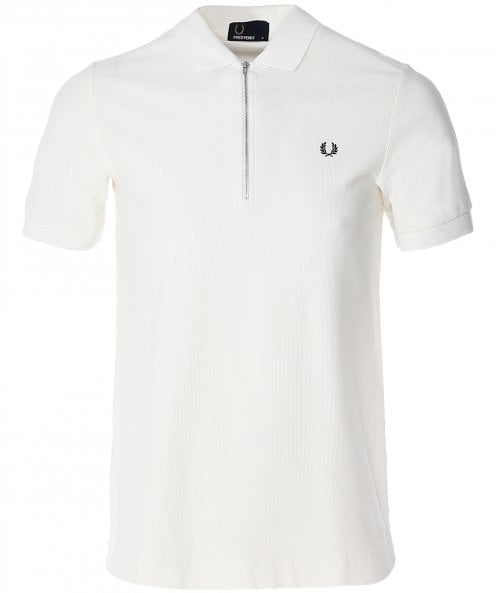 Fred Perry Zip-Neck Polo Shirt M5580 129