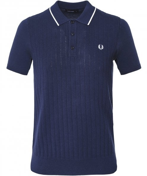Fred Perry Textured Front Knitted Shirt K5521 E97