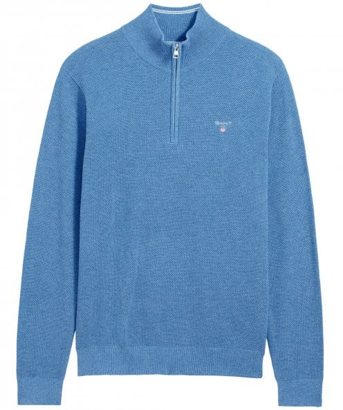 GANT Pique Cotton Half Zip Jumper