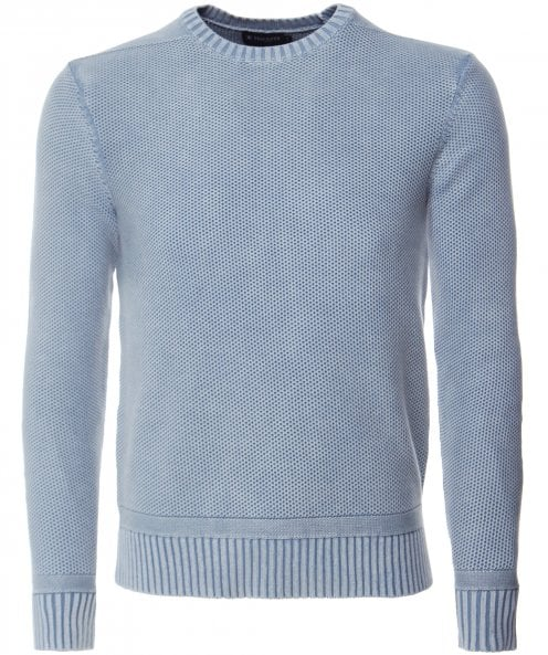 Hackett Washed Cable Knit Jumper