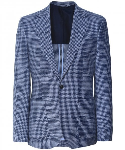Hackett Wool Blend Houndstooth Jacket