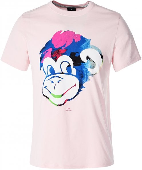 PS by Paul Smith Regular Fit Marble Monkey Head T-Shirt