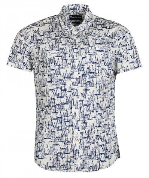 Barbour Tailored Fit Short Sleeve Boat Shirt