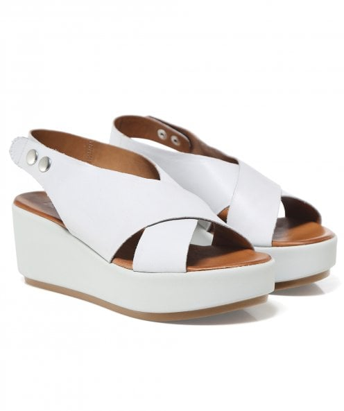 Inuovo Leather Slingback Sandals