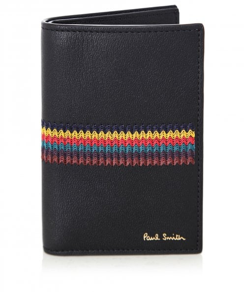 Paul Smith Leather Bright Stripe Card Wallet
