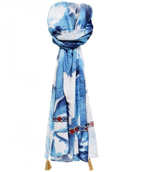 Ahujasons Watercolour Floral Print Scarf