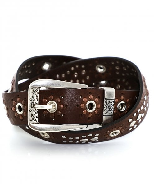 Nanni Studded Leather Belt