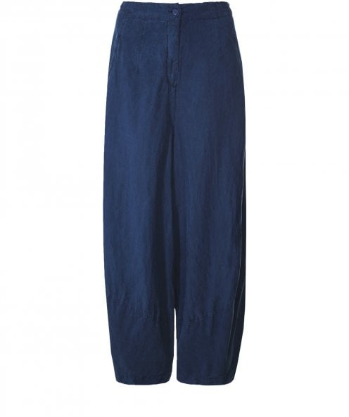 Grizas Silk and Linen Blend Wide Leg Trousers
