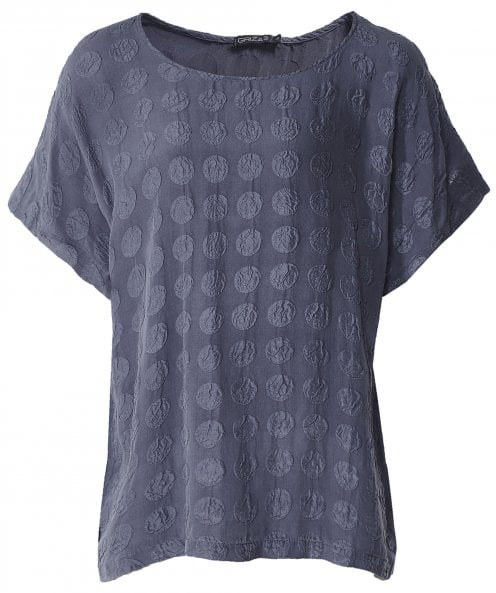 Grizas Silk Bubble Pattern T-Shirt