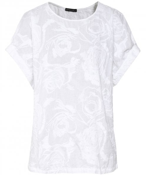 Grizas Floral Embroidered T-Shirt