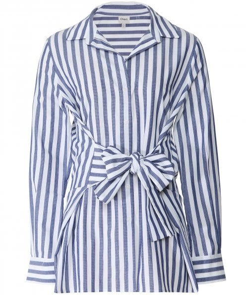 Charli Sabine Striped Tie Front Shirt