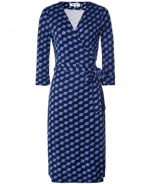 Diane Von Furstenberg Silk New Julian Jersey Wrap Dress