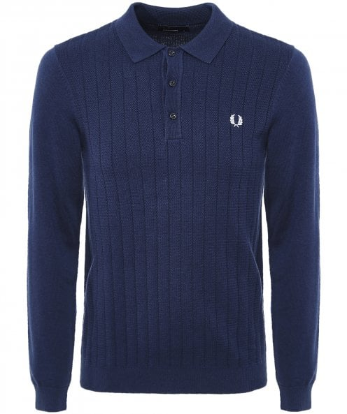 Fred Perry Textured Front Knitted Shirt K5501 E97