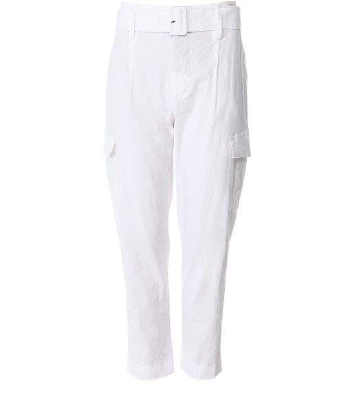 Vince Linen Blend Belted Trousers