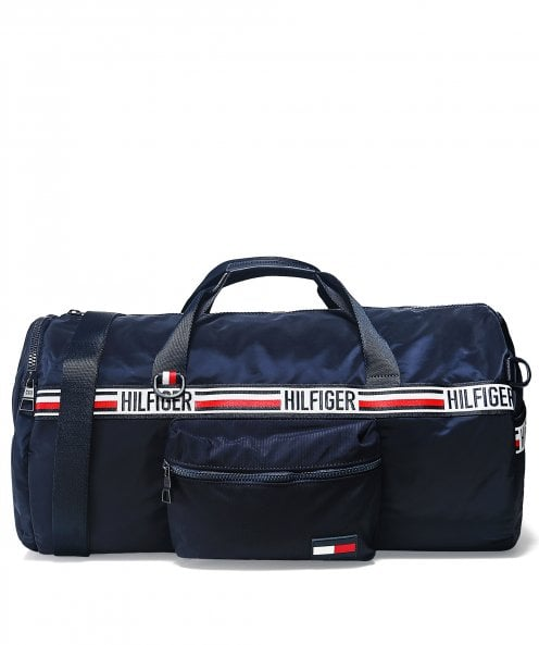 Tommy Hilfiger Signature Tape Convertible Duffle Bag