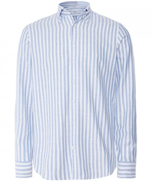 Stenstroms Fitted Body Textured Striped Shirt