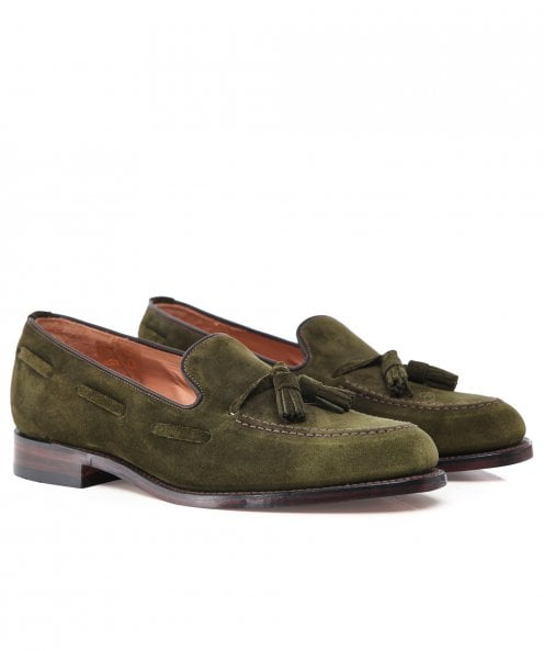 Loake Suede Lincoln Tassel Loafers