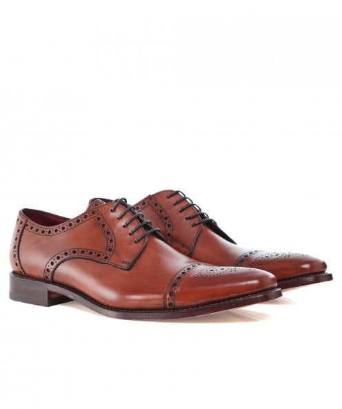 Loake Leather Semi-Brogue Foley Derby Shoes