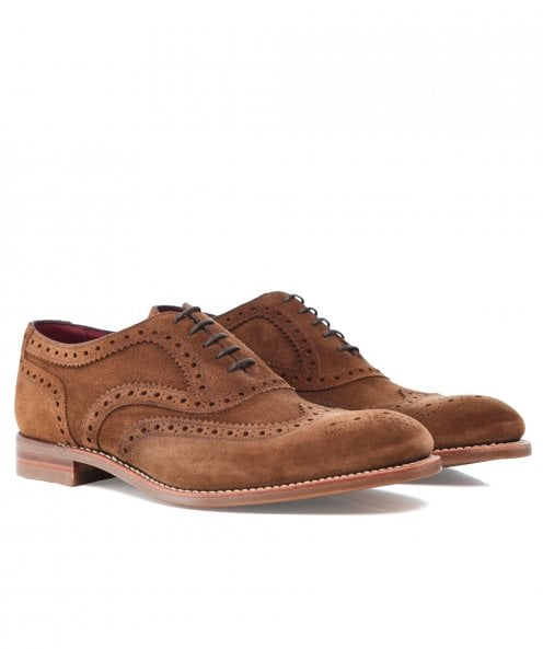 Loake Suede Kerridge Oxford Brogues