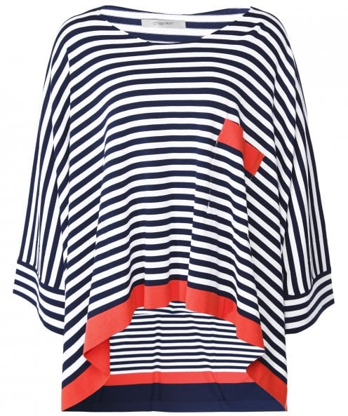 Crea Concept Oversized Stripe Top