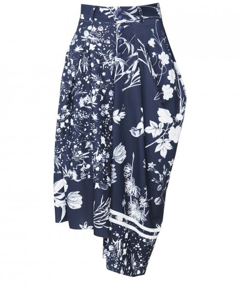 High Jaunty Floral Skirt-Pants