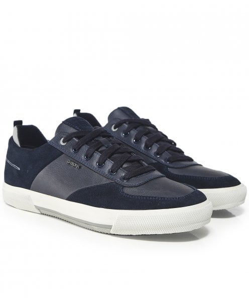 Geox Waxed Leather Kaven Trainers